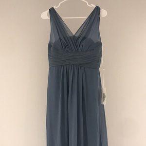 Samantha Paige dusty blue maxi dress